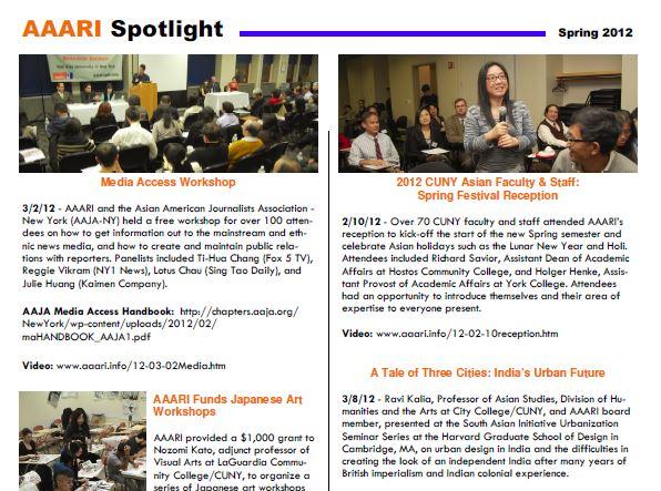 AAARI Spotlight (Spring 2012) – Asian American and Asian